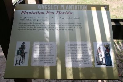Kingsley Plantation, Plantation Era Florida, Marker image. Click for full size.