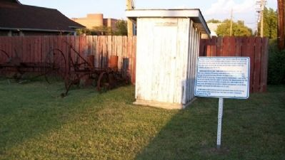 Outhouse and Marker image. Click for full size.