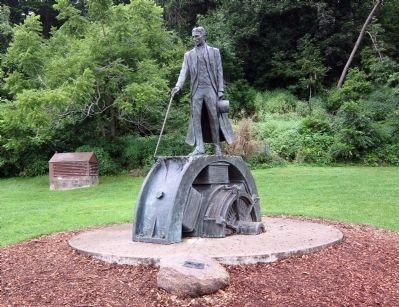 Nikola Tesla - Statue and Marker image. Click for full size.