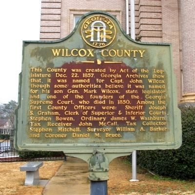 Wilcox County Marker image. Click for full size.