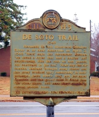 DeSoto Trail Marker image. Click for full size.