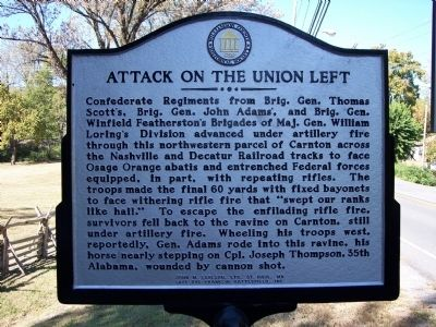 Attack On The Union Left Marker (obverse) image. Click for full size.