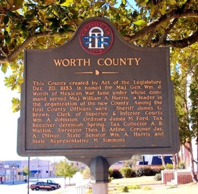 Worth County Marker image. Click for full size.
