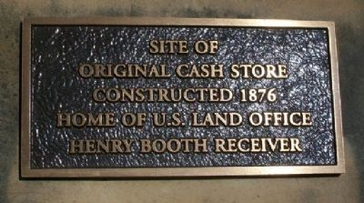 Site of Original Cash Store Marker image. Click for full size.