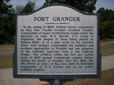 Fort Granger Marker image. Click for full size.