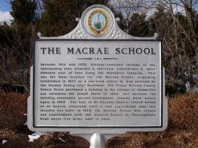 The Macrae School Marker image. Click for full size.