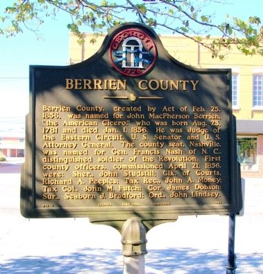 Berrien County Marker image. Click for full size.