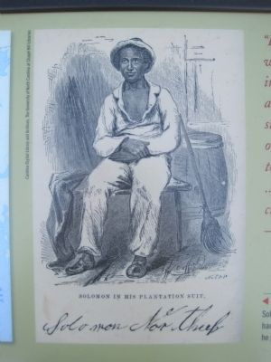 Portrait of Solomon Northrop on the Steamships, Stages and Slave Trade Marker image. Click for full size.