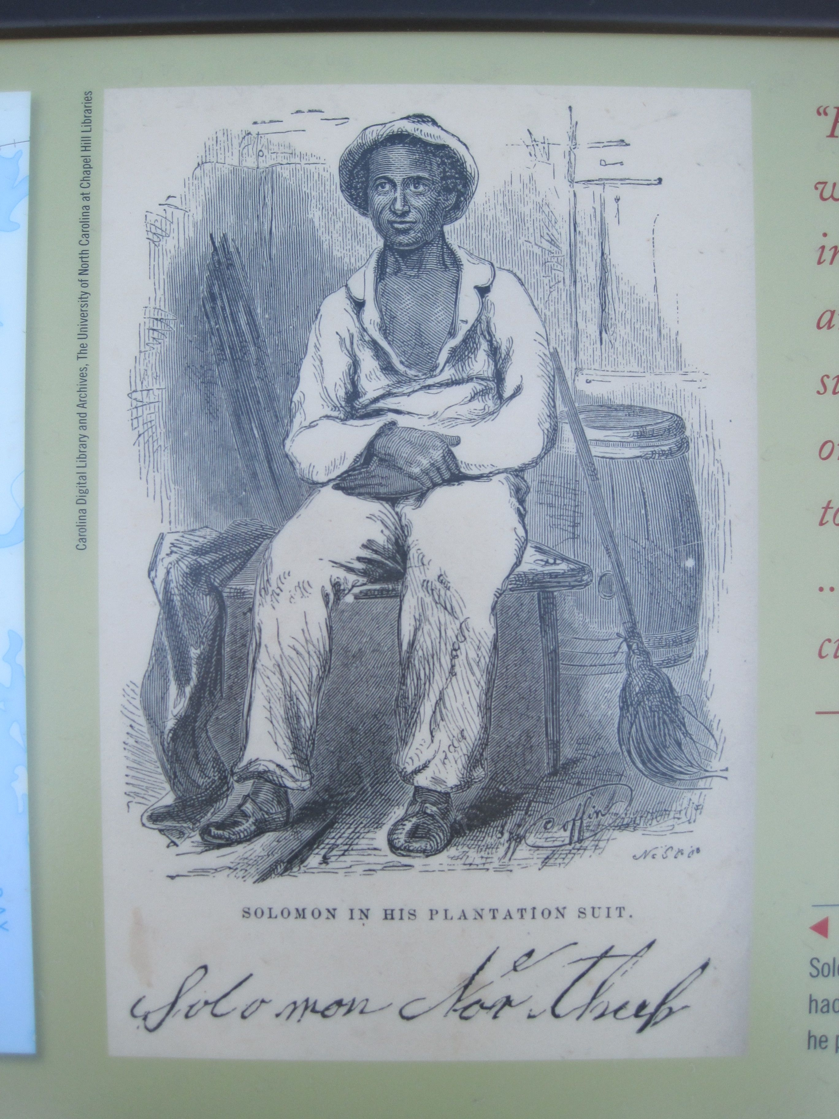 Portrait of Solomon Northrop on the Steamships, Stages and Slave Trade Marker