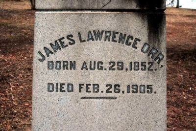 James Lawrence Orr Monument -<br>West Inscription image. Click for full size.