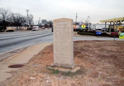 Herbert C. Granger Interchange Marker -<br>Looking South Along White Horse Road image. Click for full size.