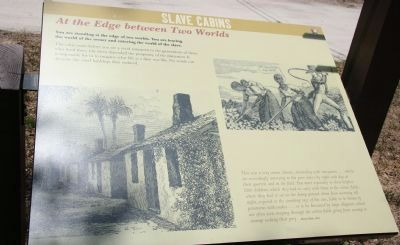 Slaves Cabins Marker image. Click for full size.