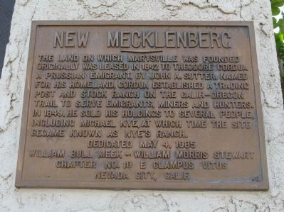 New Mecklenberg Marker image. Click for full size.