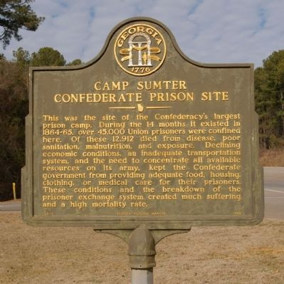 Camp Sumter Confederate Prison Site Marker image. Click for full size.