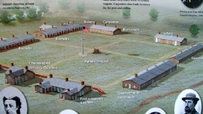 Fort Diagram on A Soldier Town Marker image. Click for full size.