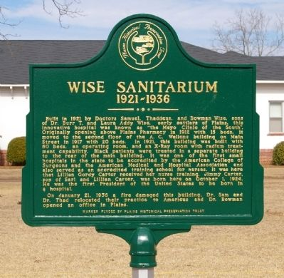 Wise Sanitarium Marker image. Click for full size.