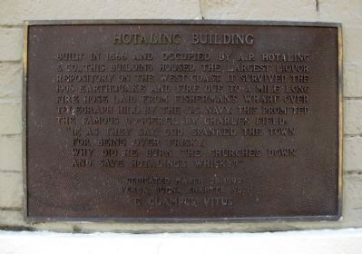 Hotaling Building Marker image. Click for full size.
