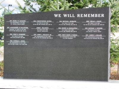 Global War on Terrorism Memorial Marker image. Click for full size.