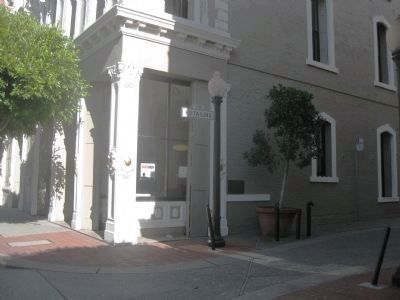 Hotaling Building Marker - wide view image. Click for full size.