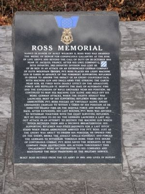 Ross Memorial Marker image. Click for full size.