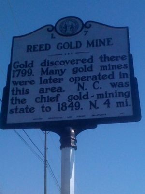 Reed Gold Mine Marker image. Click for full size.