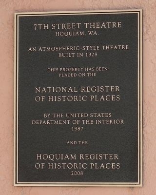 7th Street Theatre Marker image. Click for full size.