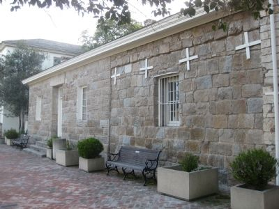 Old Monterey Jail - east (Colton Hall) side image. Click for full size.