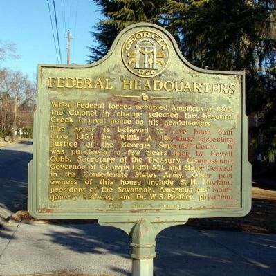 Federal Headquarters Marker image. Click for full size.