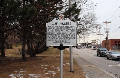 Camp Holabird Marker image. Click for full size.