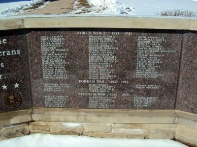 Madison County Veterans' War Memorial Marker image. Click for full size.