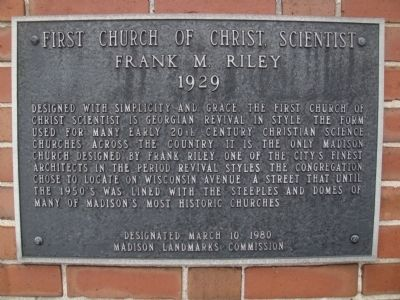 First Church of Christ Scientist Marker image. Click for full size.