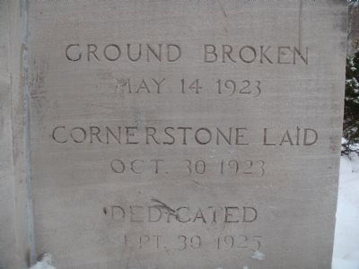 Madison Masonic Temple Cornerstone (lower) image. Click for full size.
