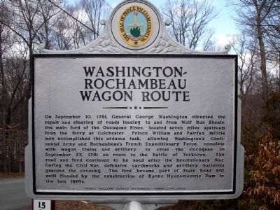 Washington ~ Rochambeau Wagon Route Marker image. Click for full size.