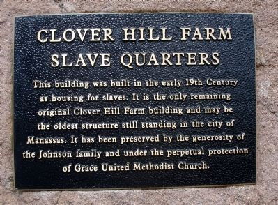 Plaque on the Historic Cabin: image. Click for full size.