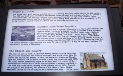 Interpretive Marker at the Historic Cabin image. Click for full size.