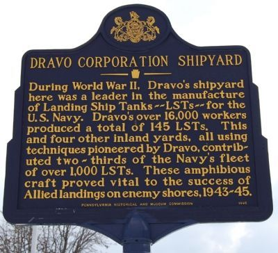 Dravo Corporation Shipyard Marker image. Click for full size.