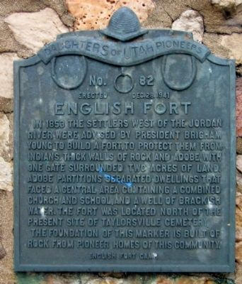 English Fort Marker image. Click for full size.