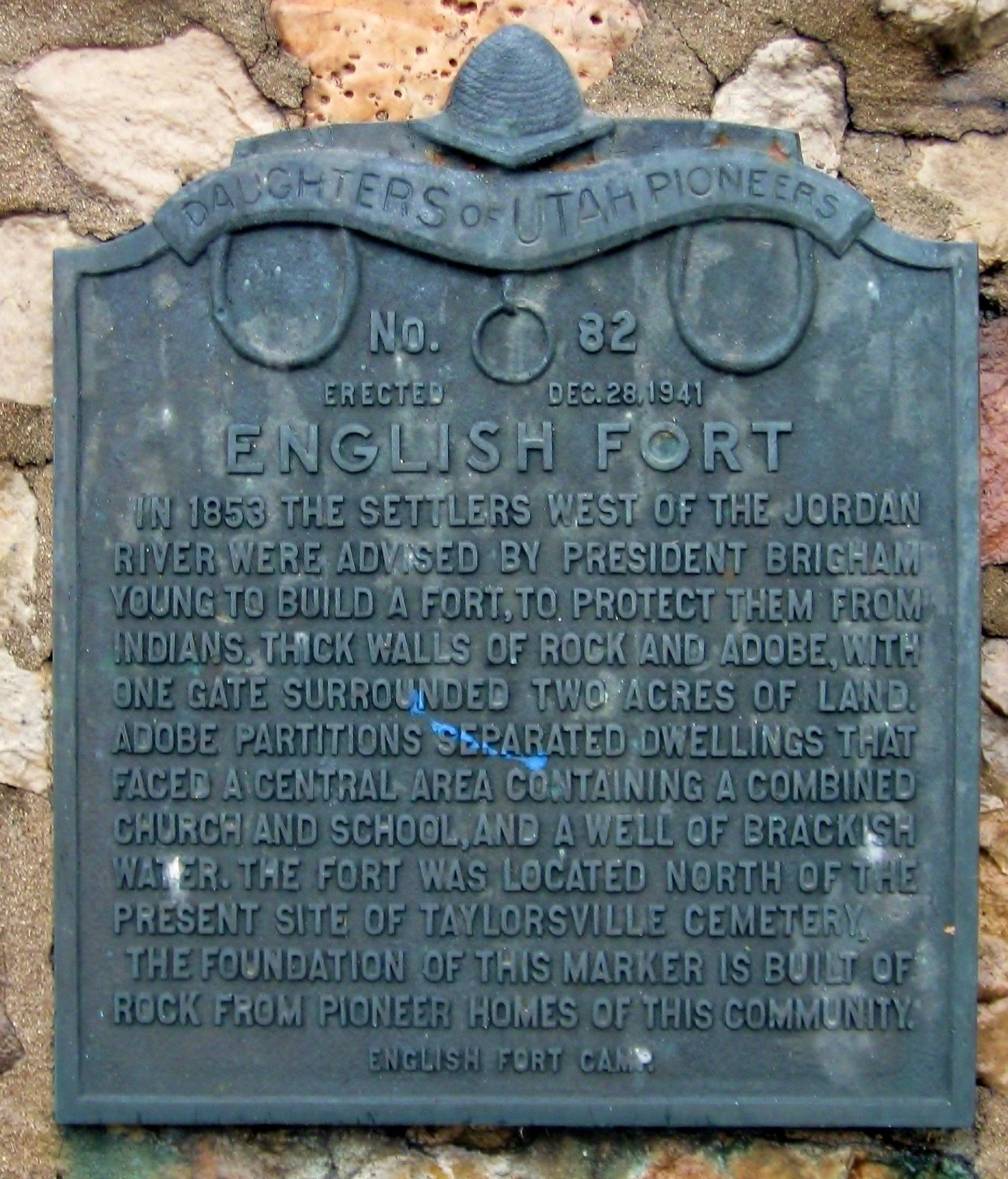English Fort Marker