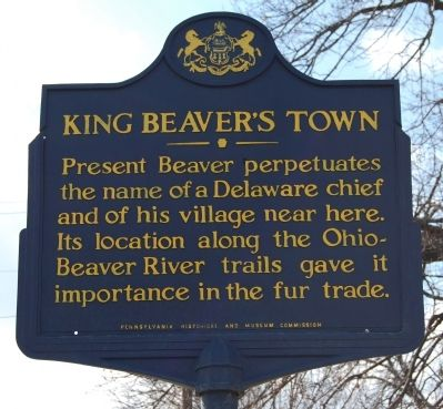 King Beaver's Town Marker image. Click for full size.