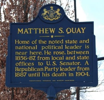 Matthew S. Quay Marker image. Click for full size.
