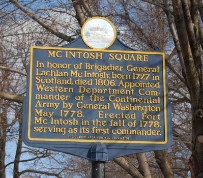 McIntosh Square Marker image. Click for full size.