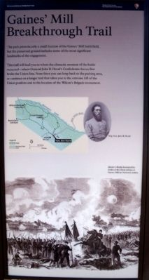 Gaines' Mill Marker (right panel) image. Click for full size.