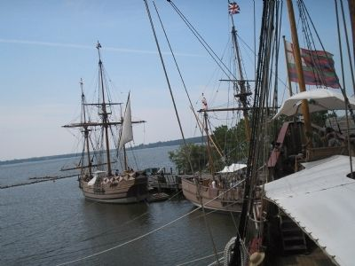 Ships on the Jamestown Waterfront image. Click for full size.
