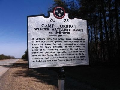Camp Forrest Marker image. Click for full size.