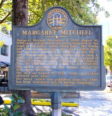 Margaret Mitchell Marker image. Click for full size.