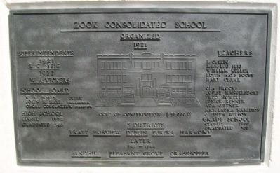 Zook Consolidated School Marker image. Click for full size.