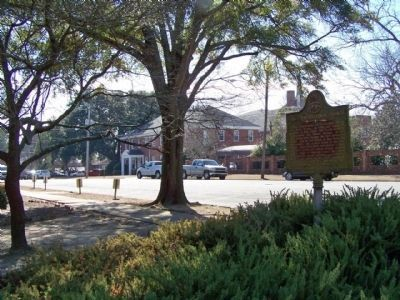 First Presbyterian Church Marker, looking south along Myrick Street image. Click for full size.