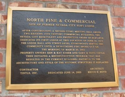 North Pine & Commercial Marker image. Click for full size.