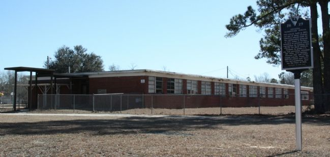 The Former Levister Elementary School and Marker image. Click for full size.