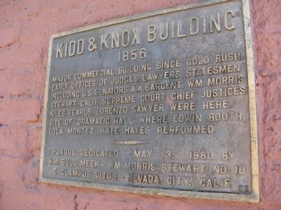 Kidd & Knox Building Marker image. Click for full size.